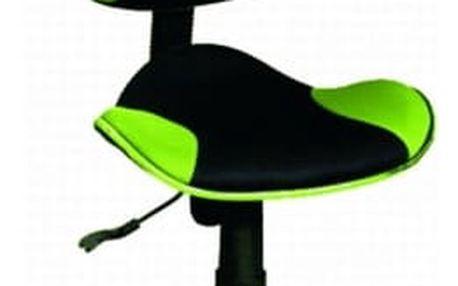 Židle kancelářská Q-G2 černo-zelená