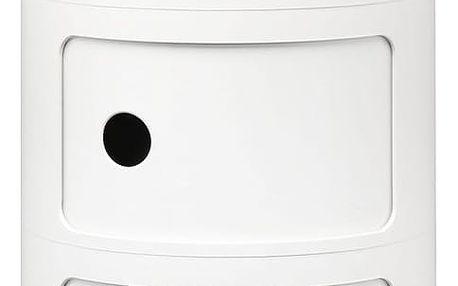 Bílý kontejner se 3 zásuvkami Kartell Componibili