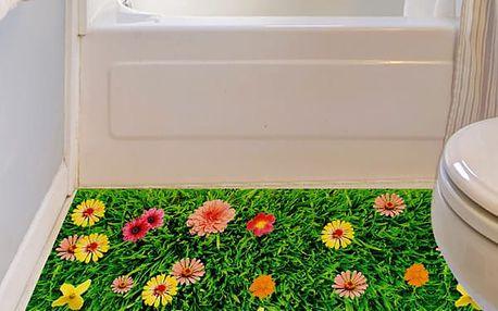 3D Trávník s květinami