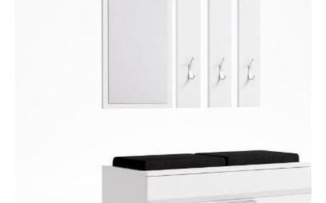 Předsíňová stěna s botníkem OPAL bílá