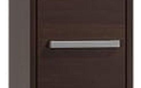 Koupelnová skříňka s regálem 33 cm wenge
