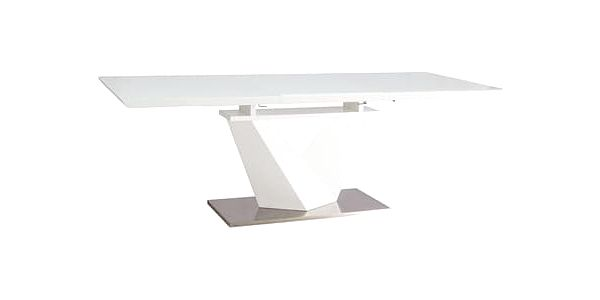Jídelní stůl ALARAS III bílý 160(220)x90 cm2