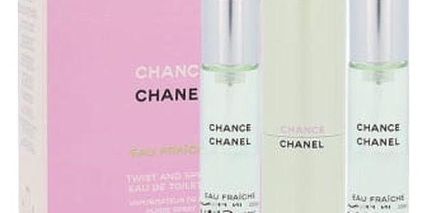 Chanel Chance Eau Fraiche 3x20 ml toaletní voda Twist and Spray pro ženy