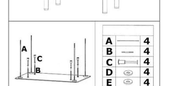 Jídelní stůl Hektor 120x70 cm2