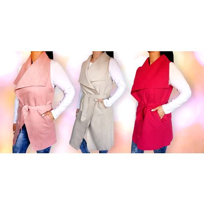 Dámské vesty ve dvou délkách a osmi barvách