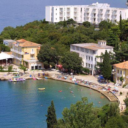 8–10denní Chorvatsko, Krk | Hotel Adriatic – Omišalj 50 m od pláže | Polopenze nebo plná penze