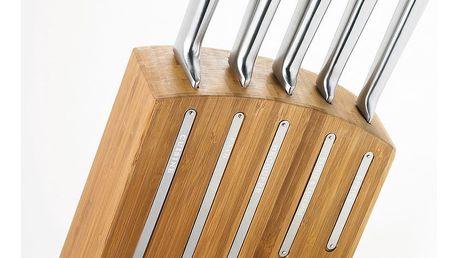Sada 5 nožů a stojanu z bambusového dřeva Jean Dubost