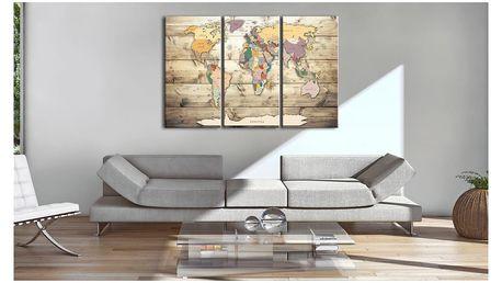 Nástěnka s mapou světa Artgeist Map of Dreams, 90x60cm