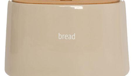 Krémový chlebník s bambusovým víkem Premier Housewares Fletcher, 7,7 l
