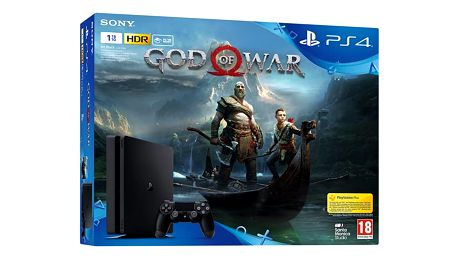 Herní konzole Sony PlayStation 4 SLIM 1TB + God of War černá (PS719384878)