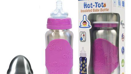 PACIFIC BABY Hot-Tot Termoska 200 ml růžová/stříbrná