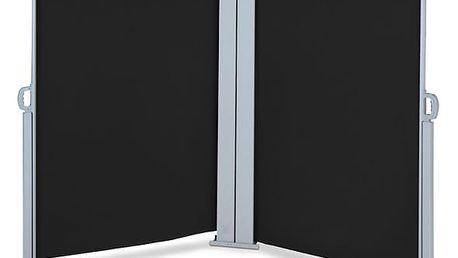 Venkovní zástěna výška 1,8m délka 6m HT180-6 černá Hometrade