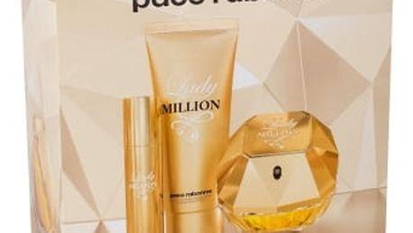 Paco Rabanne Lady Million dárková kazeta pro ženy parfémovaná voda 80 ml + tělové mléko 100 ml + parfémovaná voda 10 ml