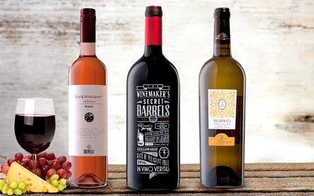 Červené, růžové i bílé: vína z Itálie a Chille