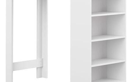 Bílý barový stůl s bílou deskou Symbiosis Auguste