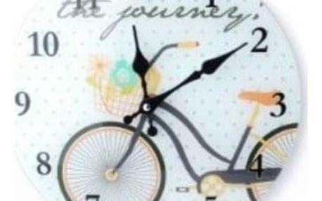 Krásné skleněné hodiny do Vašeho interiéru sovička, káva, kolo.