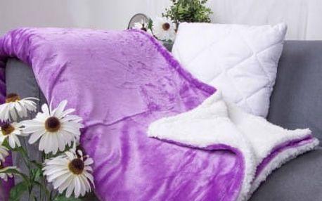 XPOSE ® Deka mikroflanel s beránkem - levandulová 140x200 cm