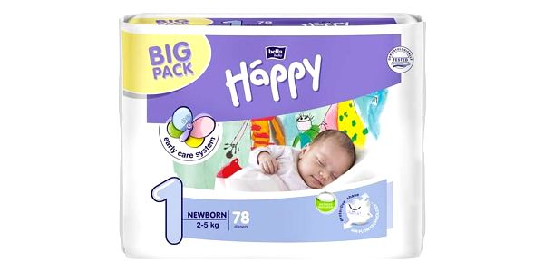 Bella Baby Happy New Born Big Pack 78 ks