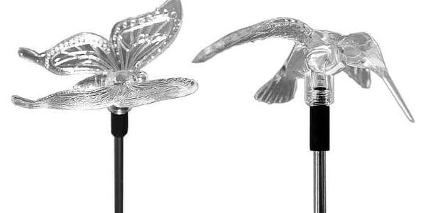 Garthen 289 Zahradní sada solárních LED světel - Kolibřík, motýl