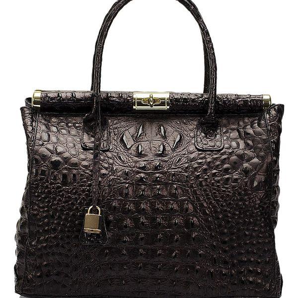Černá kožená kabelka Lisa Minardi Lantha