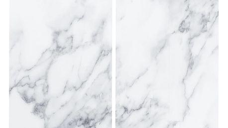 Ochranné skleněné panely MARBLE na sporáky – 2 ks, ZELLER