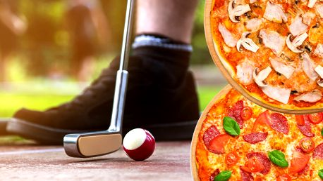 2 libovolné pizzy a 1 hod. minigolfu pro partu