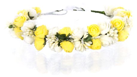 Čelenka do vlasů - květinový věneček s krajkou