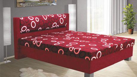 Čalouněná postel NIKOL 120cm vč. roštu, matrace a ÚP