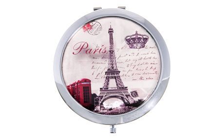 Kapesní kulaté zrcátko Paris Summer kovové Londýn