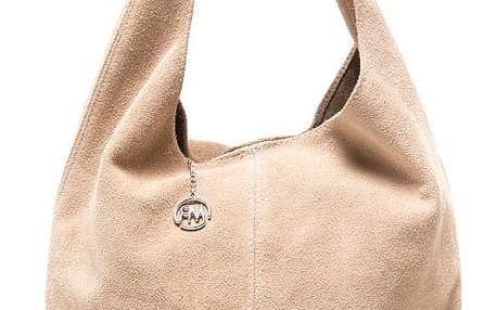 Béžová kožená kabelka Roberta M 885
