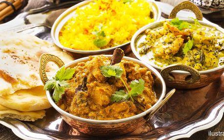 Indické menu: vegetariánské nebo kuřecí