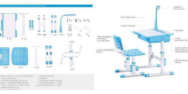 Dětský psací stůl a židle Astro 3 růžová