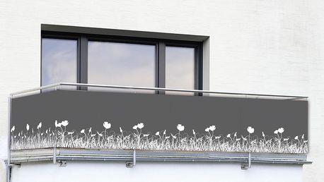 Clona na balkonové zábradlí Antracyt - 500 x 85 cm, WENKO