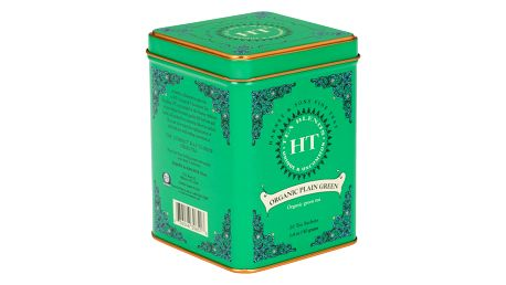 HARNEY & SONS Zelený čaj Plain green, zelená barva, kov