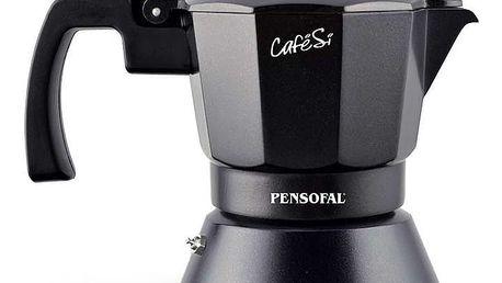 Černá moka konvička na espresso Pensofal Cafesi Noir, 3 šálky