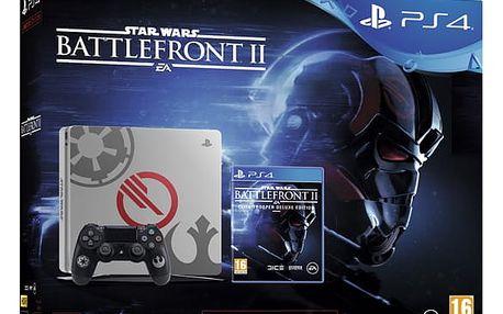 Herní konzole Sony PlayStation 4 SLIM 1TB Speciální edice StarWars Battlefront II (PS719970668)