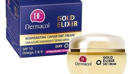 Dermacol Gold Elixir 50 ml denní pleťový krém proti vráskám pro ženy