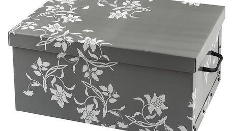 Úložný box 51 x 37 x 24 cm, šedá