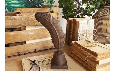 Kovové těžítko ve tvaru psacího brku Orchidea Milano Book, 24cm