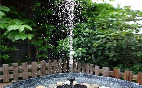 Zahradní fontána na solární energii