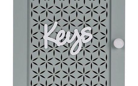Skříňka na klíče Trento zelená, 28 x 20 cm