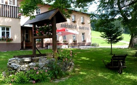 Letní pobyt pro dva na Hříběcí boudě v Krkonoších! Jako dárek hotelové wellness a zapůjčení kola zdarma.