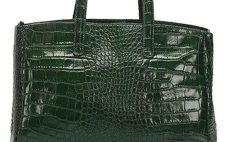 Zelená kožená kabelka Lisa Minardi Magnata