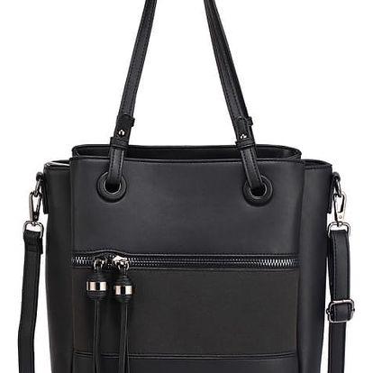 Dámská černá kabelka Karmen 553