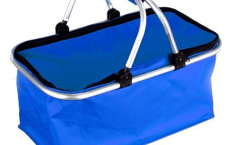 Nákupní skládací košík modrá