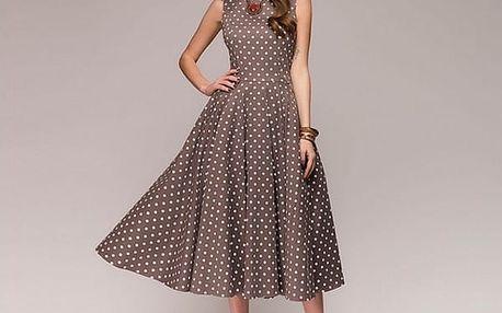 Vintage dámské šaty s puntíky - 3 barvy