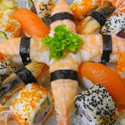 24 vegetariánských nebo 32 luxusních ks sushi