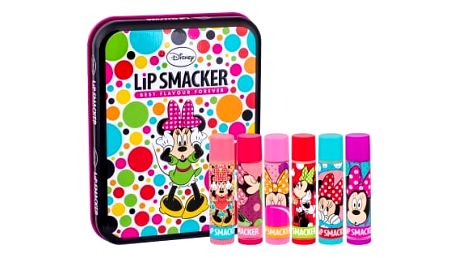 Lip Smacker Disney Minnie Mouse dárková kazeta balzám na rty 6 x 4 g + plechová krabička