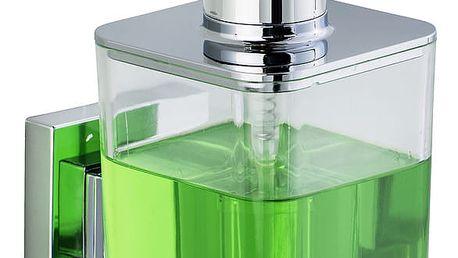 Dávkovač na mýdlo QUADRO,Vacuum-Loc nerezová ocel - 340 ml, WENKO