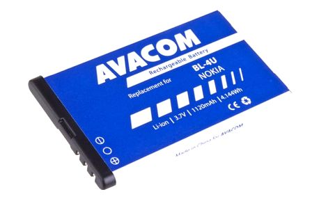 Baterie Avacom pro Nokia 5530, CK300, E66, 5530, E75, 5730, Li-Ion 1120mAh (náhrada BL-4U) (GSNO-BL4U-S1120A)